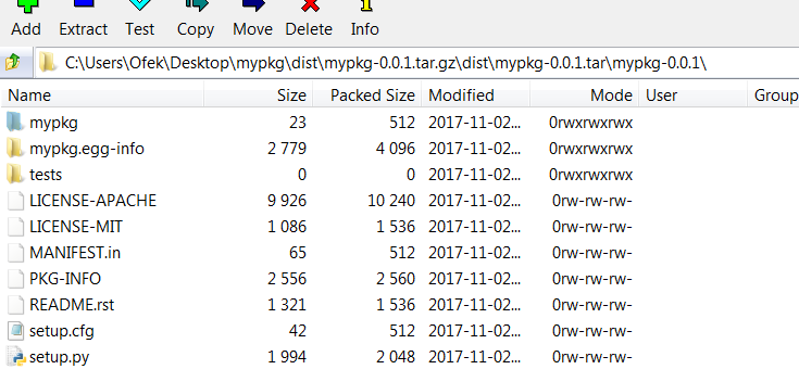 sdist with --dist-dir on Windows produces incorrect archive · Issue
