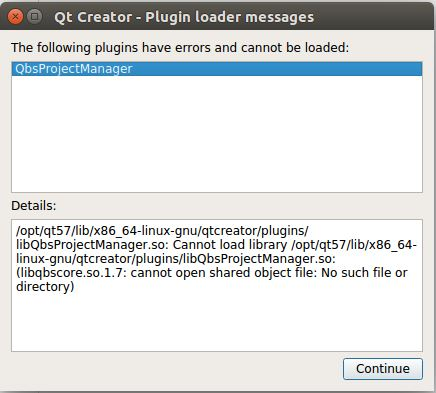 I got error message about QbsProjectManager when run