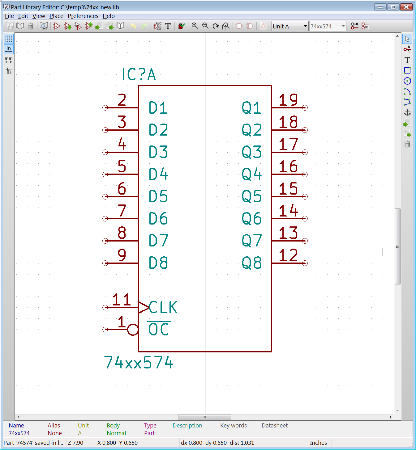 74xx And 74xgxx Forced Power Pins Issue 605 Kicad Library 7400 Quad 2input Nand Gate Pin Layout Image