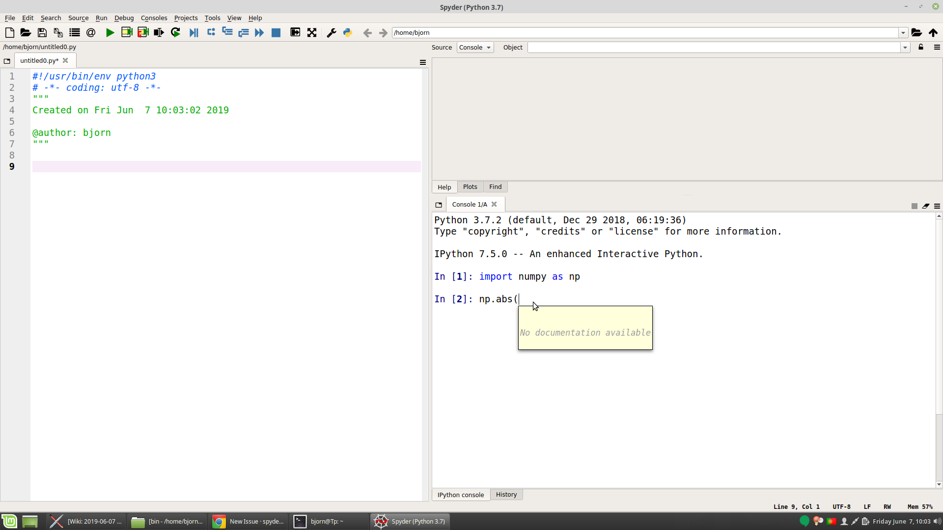 Calltips in IPython console are empty but work in qtconsole