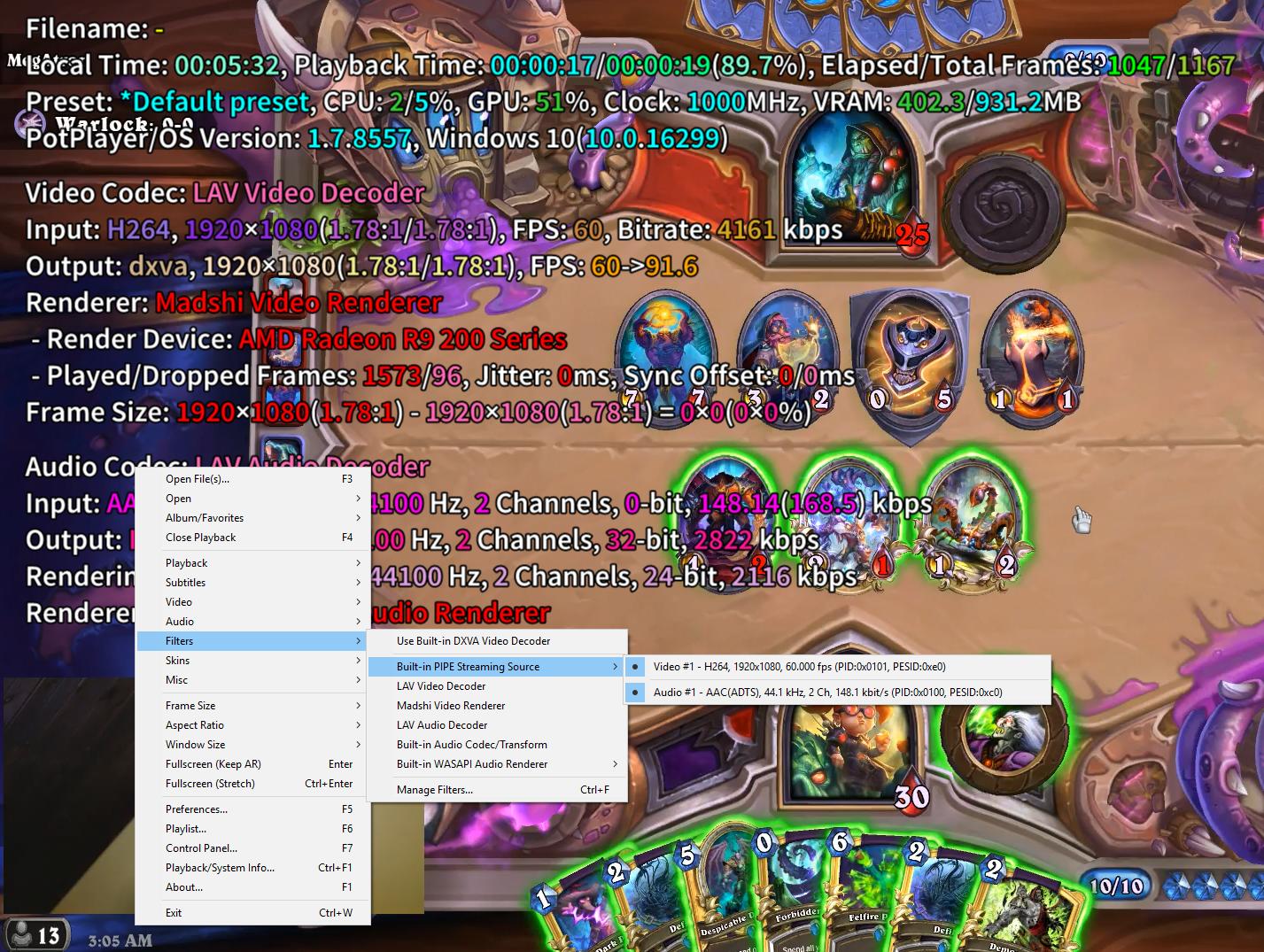PotPlayer can handle stdin mode · Issue #1551 · streamlink