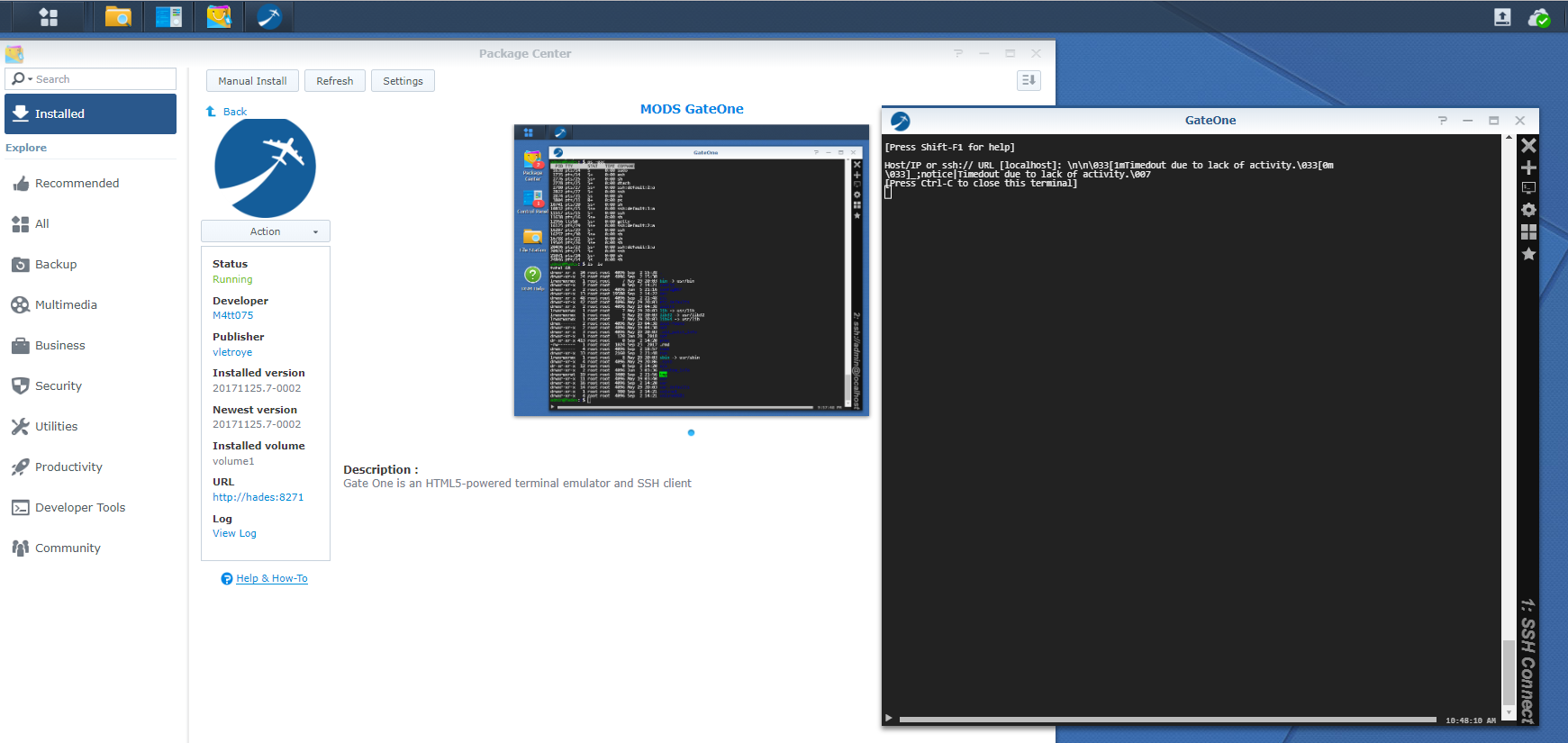 Developers - Gateone doesnt work anymore after dsm 6 -
