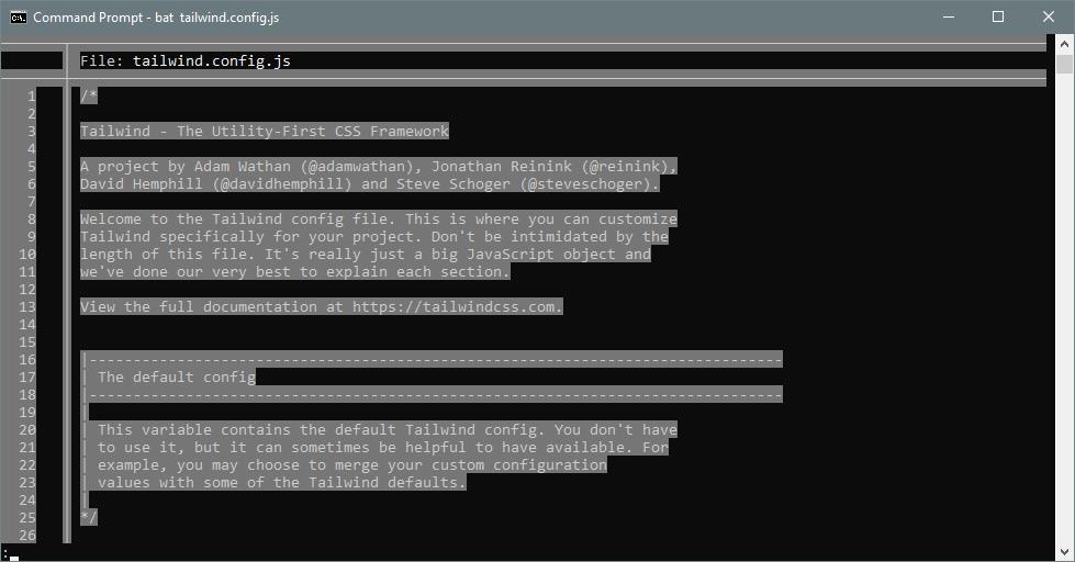 White-on-grey text everywhere except the filename