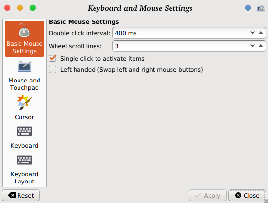 Mouse settings have no effect (acceleration, sensivity