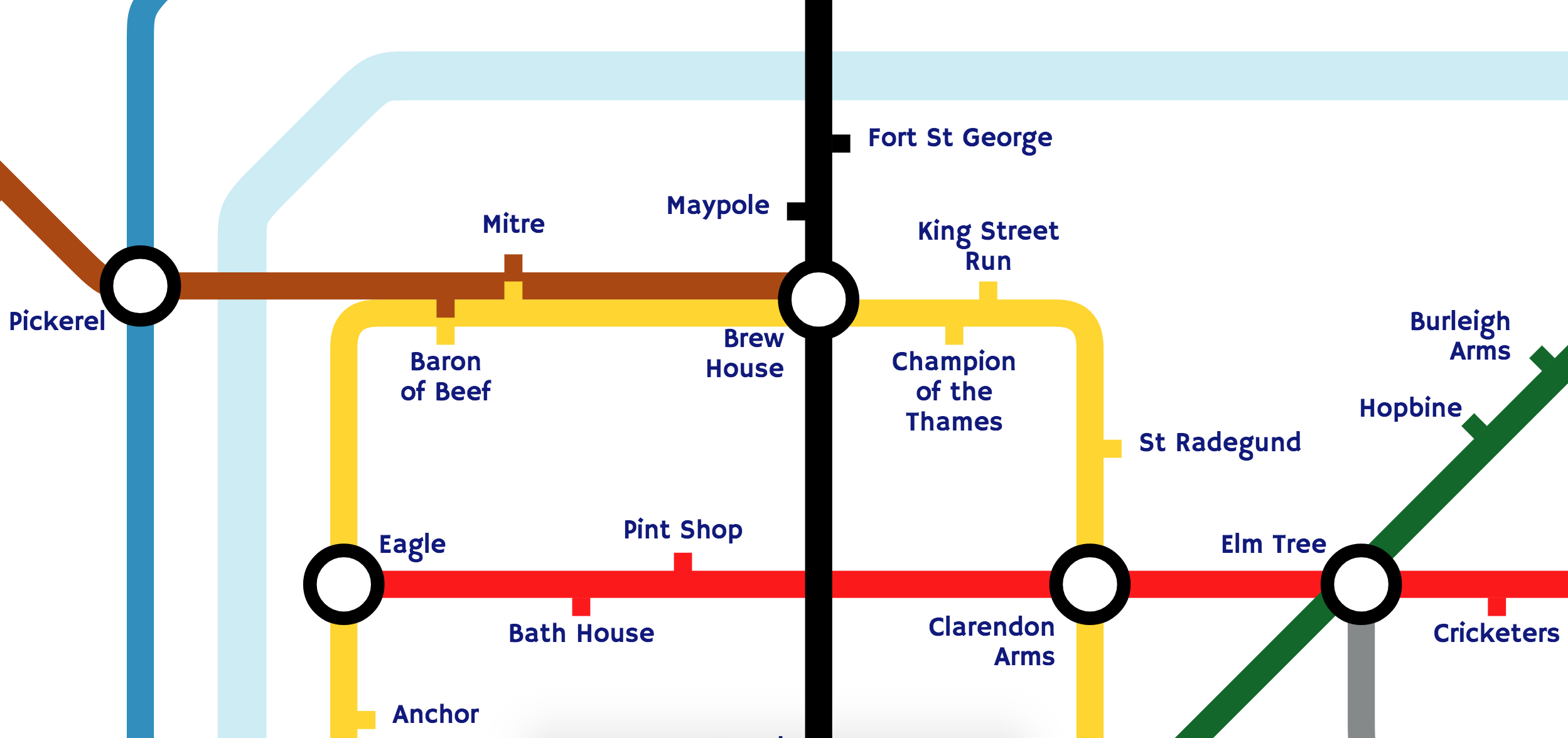 A Subway Map Is A Good Example Of A.Github Johnwalley D3 Tube Map Draw Tube Maps In The Style Of The