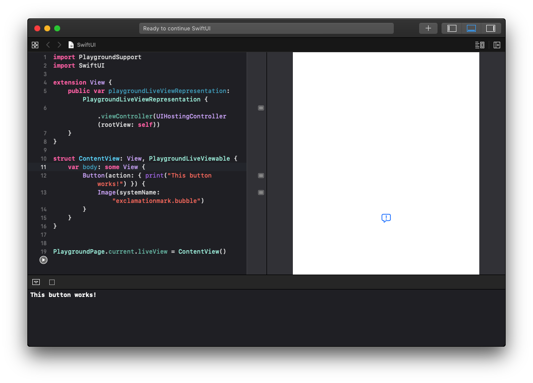 Live Preview for SwiftUI in Mojave!