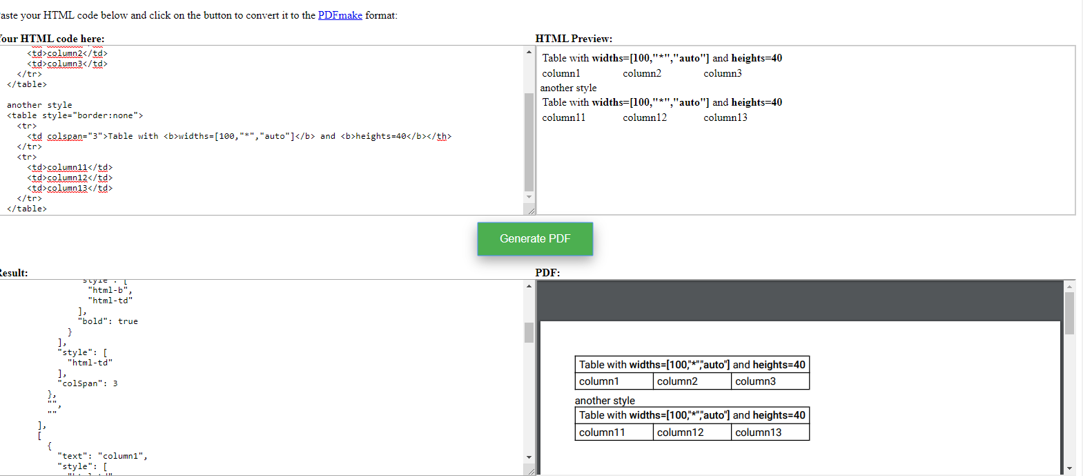 Table border issue · Issue 20 · Aymkdn/html to pdfmake · GitHub