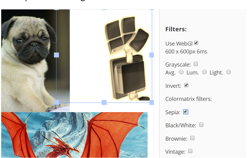 Applying multiple filter to image resizes it · Issue #5011