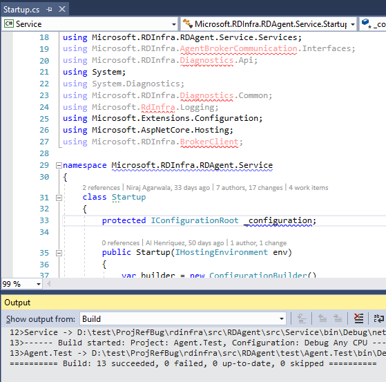 Intellisense missing on project references (design-time build) if