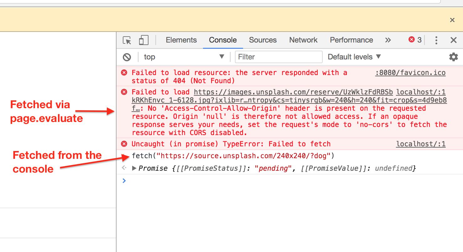 Cross-origin fetch fails · Issue #214 · GoogleChrome