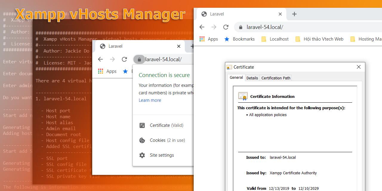 Xampp vHosts Manager GitHub cover