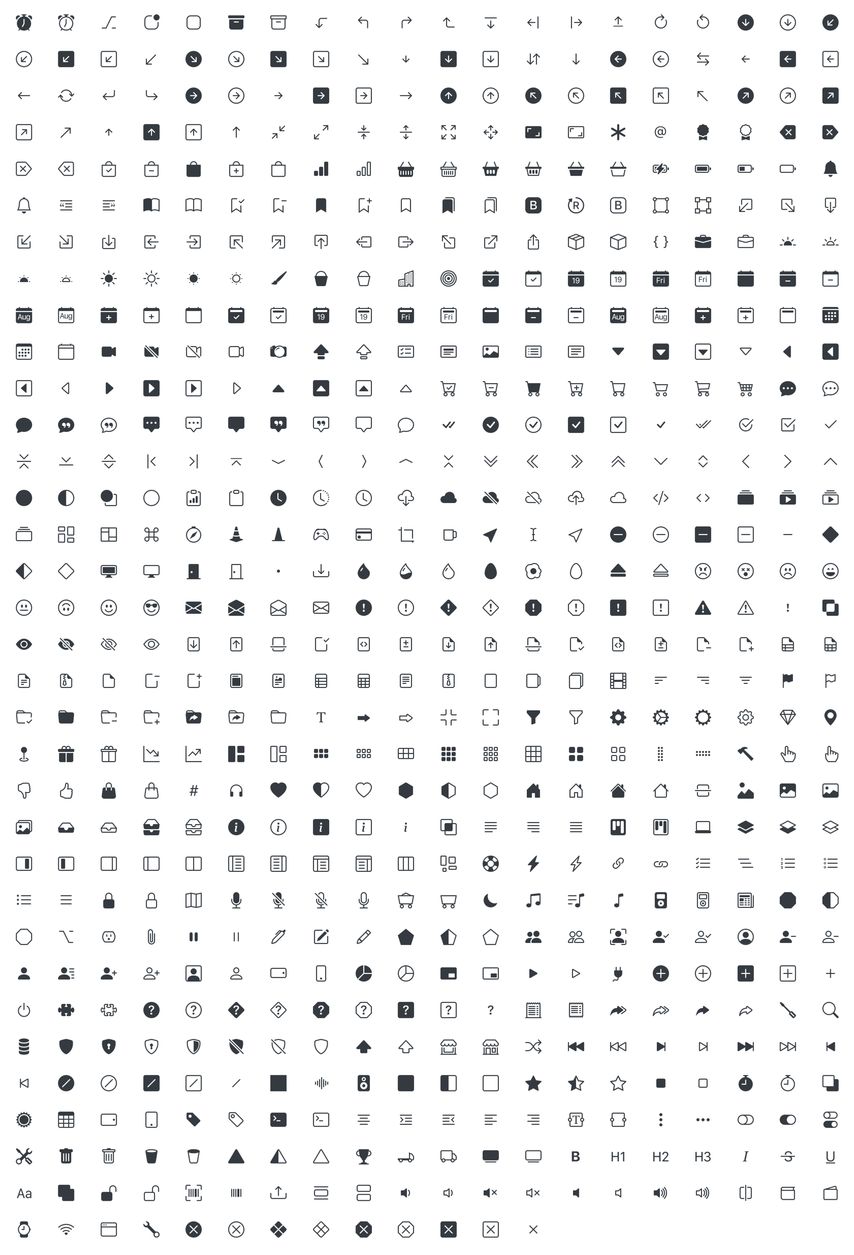 Bootstrap Icons full set