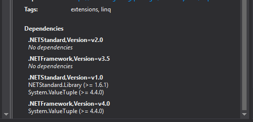 Net 4 7 doesnt require the package System ValueTuple · Issue #348