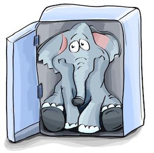 大象放进冰箱