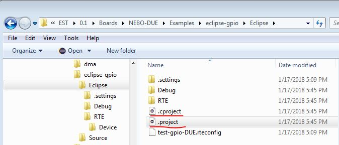 CMSIS pack examples not seen in Eclipse CMSISpack