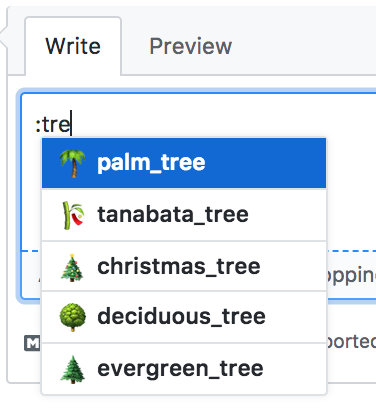 image of fuzzy search emojis on GitHub