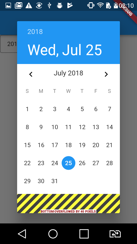 DatePicker widget is with bug when displayed on small mobile