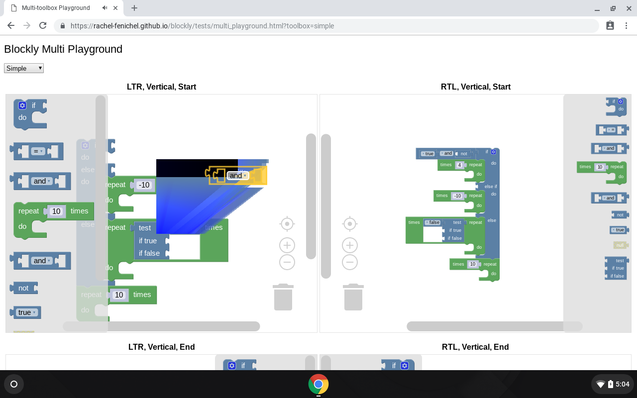 Render error during drag on ChromeOS · Issue #2181 · google/blockly