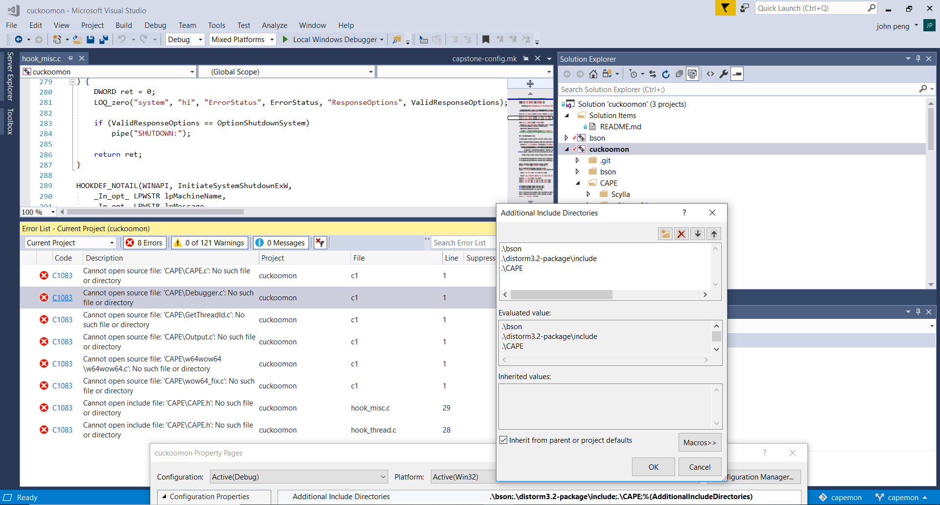 Visual Studio Build: Cannot locate source files · Issue #9