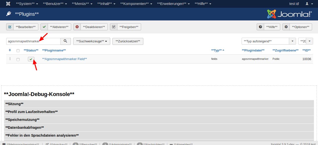 plugins test administration 1