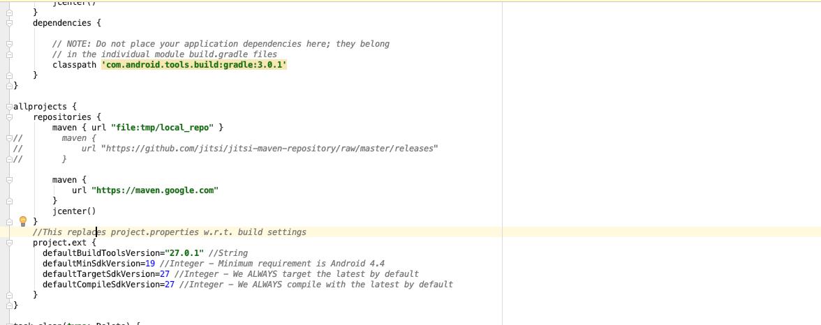 could not resolve Error:Failed to resolve: org jitsi react:jitsi